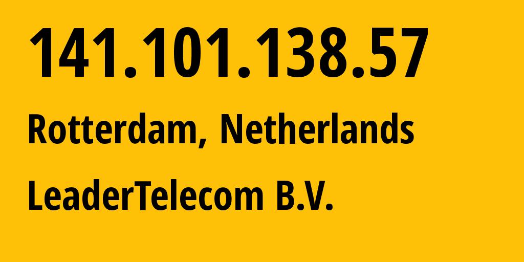 IP address 141.101.138.57 (Kabanovo, Moscow Oblast, Russia) get location, coordinates on map, ISP provider AS57489 LLC Telecom-Uslugi // who is provider of ip address 141.101.138.57, whose IP address