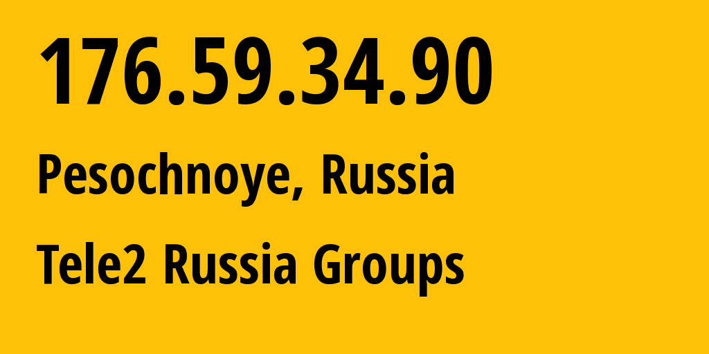 IP address 176.59.34.90 (Moscow, Moscow, Russia) get location, coordinates on map, ISP provider AS12958 Tele2 Russia Groups // who is provider of ip address 176.59.34.90, whose IP address