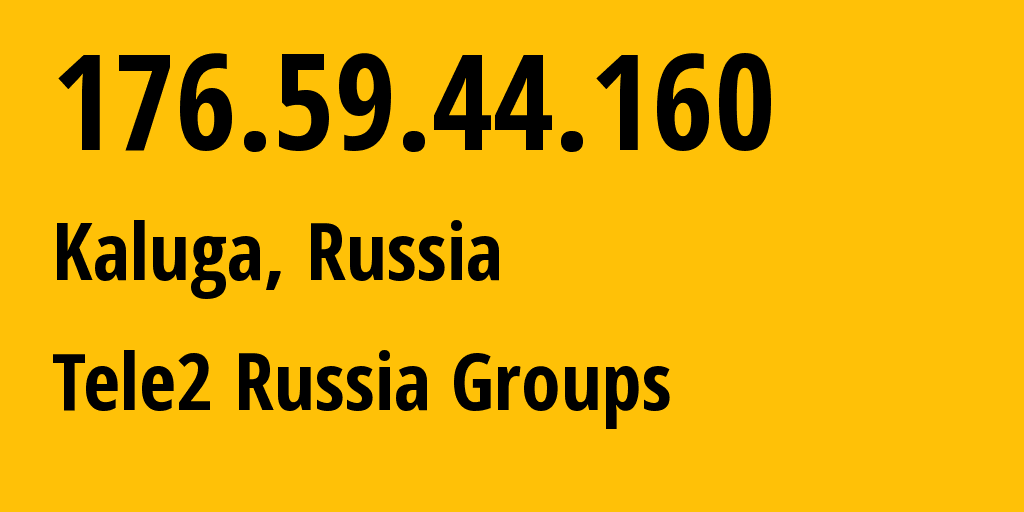 IP address 176.59.44.160 (Moscow, Moscow, Russia) get location, coordinates on map, ISP provider AS12958 Tele2 Russia Groups // who is provider of ip address 176.59.44.160, whose IP address