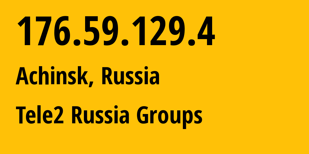 IP address 176.59.129.4 (Novosibirsk, Novosibirsk Oblast, Russia) get location, coordinates on map, ISP provider AS41330 Tele2 Russia Groups // who is provider of ip address 176.59.129.4, whose IP address