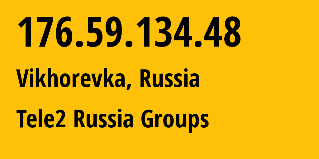 IP address 176.59.134.48 (Novosibirsk, Novosibirsk Oblast, Russia) get location, coordinates on map, ISP provider AS41330 Tele2 Russia Groups // who is provider of ip address 176.59.134.48, whose IP address