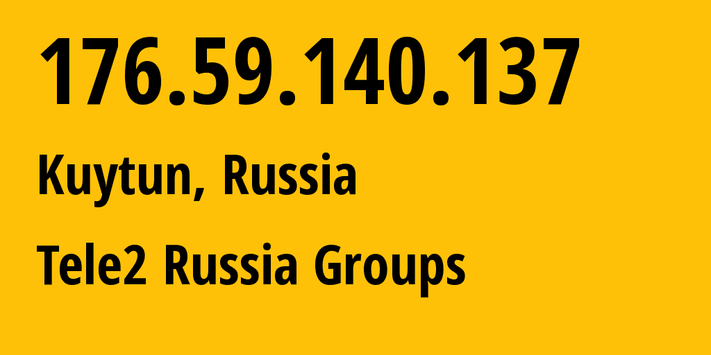 IP address 176.59.140.137 (Strezhevoy, Tomsk Oblast, Russia) get location, coordinates on map, ISP provider AS41330 Tele2 Russia Groups // who is provider of ip address 176.59.140.137, whose IP address