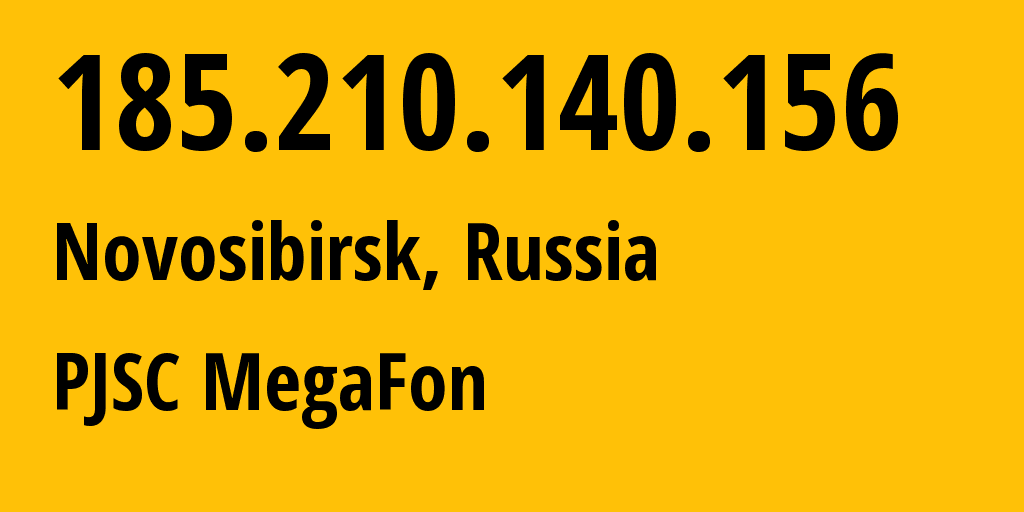 IP address 185.210.140.156 (Moscow, Moscow, Russia) get location, coordinates on map, ISP provider AS31205 PJSC MegaFon // who is provider of ip address 185.210.140.156, whose IP address