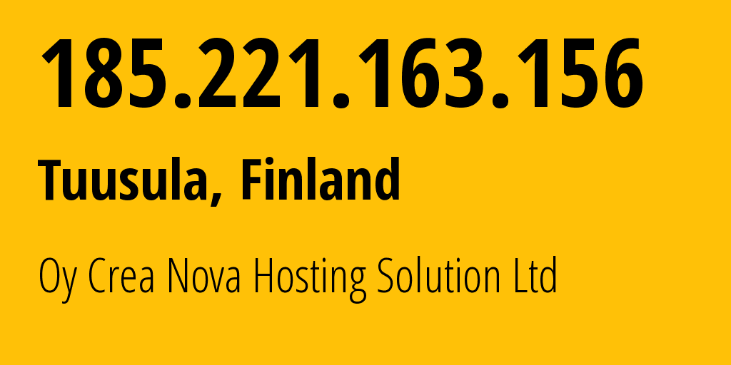 IP address 185.221.163.156 (Moscow, Moscow, Russia) get location, coordinates on map, ISP provider AS50113 NTX Technologies s.r.o. // who is provider of ip address 185.221.163.156, whose IP address