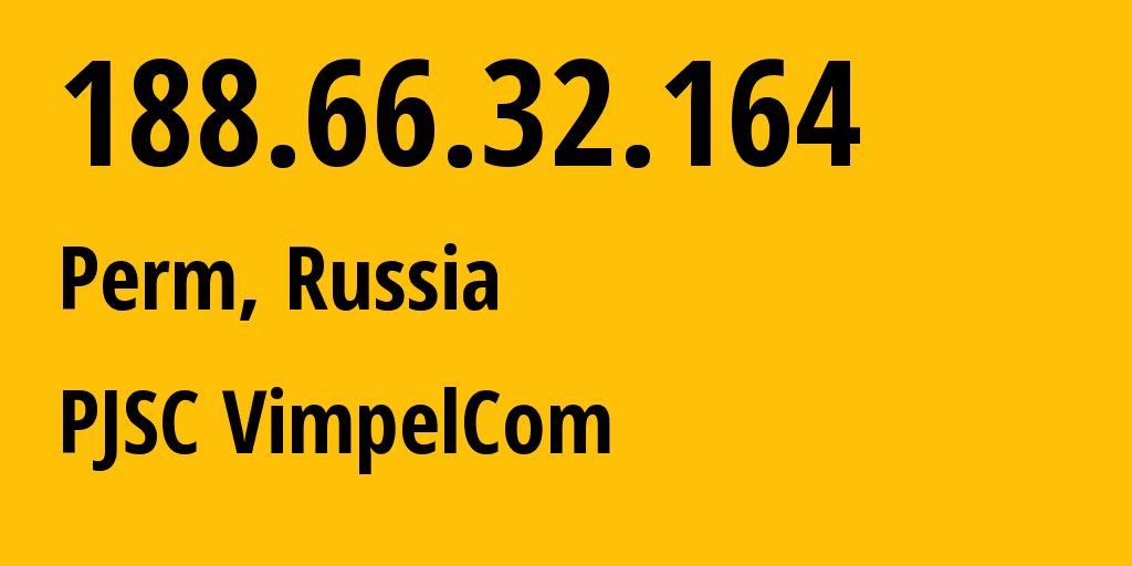 IP address 188.66.32.164 (Varna, Chelyabinsk Oblast, Russia) get location, coordinates on map, ISP provider AS16345 PJSC VimpelCom // who is provider of ip address 188.66.32.164, whose IP address