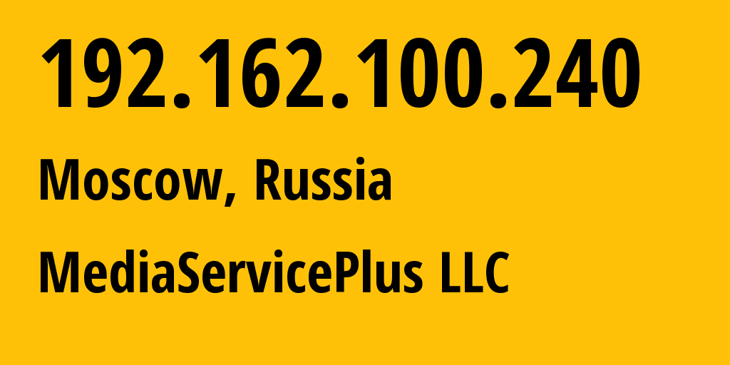 IP address 192.162.100.240 (Moscow, Moscow, Russia) get location, coordinates on map, ISP provider AS50113 NTX Technologies s.r.o. // who is provider of ip address 192.162.100.240, whose IP address