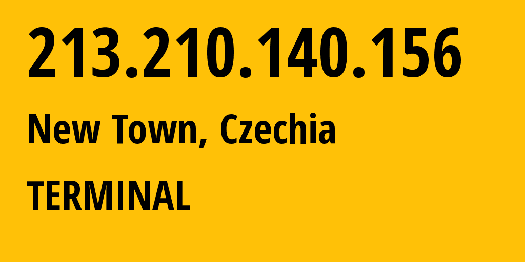 IP address 213.210.140.156 (Prague, Hlavni mesto Praha, Czechia) get location, coordinates on map, ISP provider AS5588 TERMINAL // who is provider of ip address 213.210.140.156, whose IP address