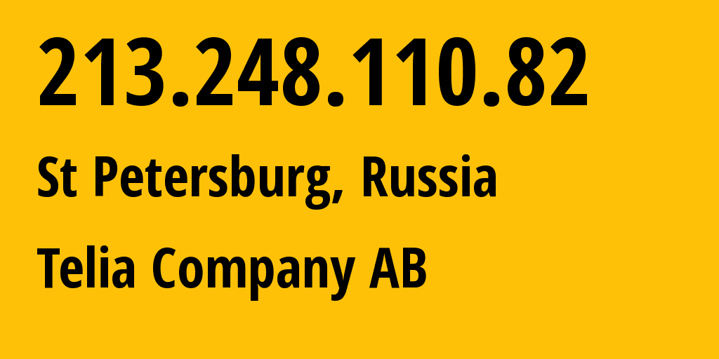 IP address 213.248.110.82 (Moscow, Moscow, Russia) get location, coordinates on map, ISP provider AS1299 Telia Company AB // who is provider of ip address 213.248.110.82, whose IP address