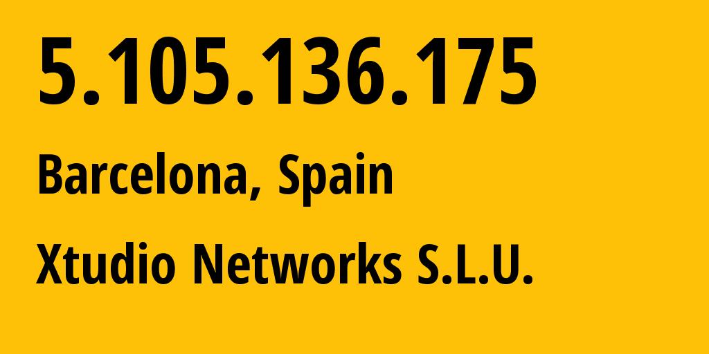IP address 5.105.136.175 (Kyiv, Kyiv City, Ukraine) get location, coordinates on map, ISP provider AS43554 TRINITY-CLNTS // who is provider of ip address 5.105.136.175, whose IP address