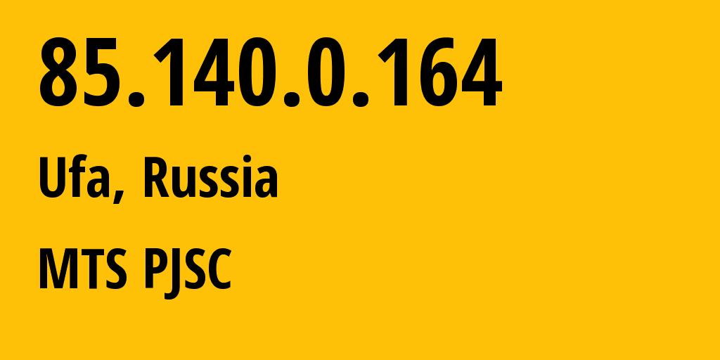 IP address 85.140.0.164 (Nizhniy Novgorod, Nizhny Novgorod Oblast, Russia) get location, coordinates on map, ISP provider AS8359 MTS PJSC // who is provider of ip address 85.140.0.164, whose IP address