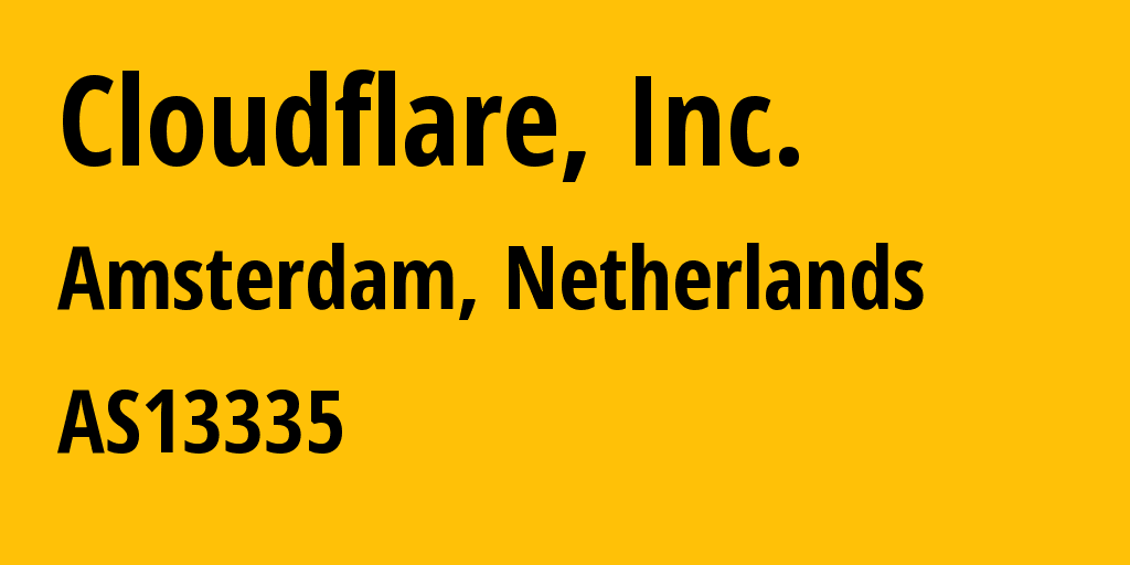 Информация о провайдере Cloudflare, Inc. AS13335 Cloudflare, Inc.: все ip-адреса, network, все подсети
