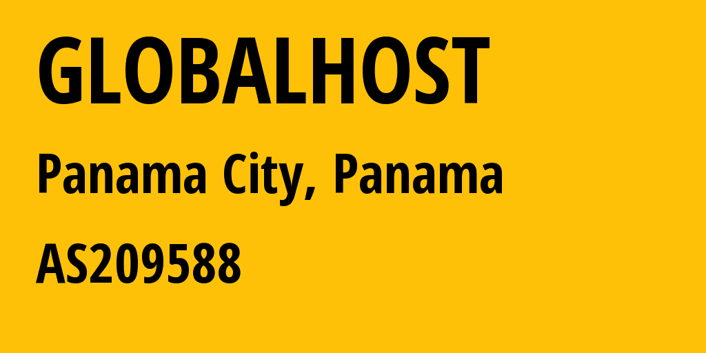 Information about provider GLOBALHOST AS209588 Flyservers S.A.: all IP addresses, address range, IP providers and ISP providers
