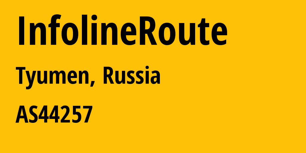 Information about provider InfolineRoute AS44257 MTS PJSC: all IP addresses, address range, IP providers and ISP providers
