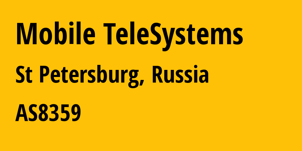 Information about provider Mobile TeleSystems AS8359 MTS PJSC: all IP addresses, address range, IP providers and ISP providers